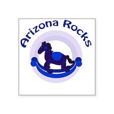 """Arizona Rocks Blue Baby Boy Square Sticker 3"""" x 3"""""""