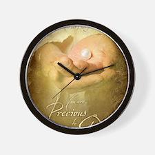 You are precious to God Wall Clock