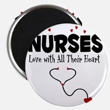 Nurses Love With All Their Heart Magnet