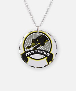 Panther Big Cat Growling Necklace