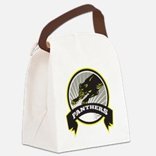 Panther Big Cat Growling Canvas Lunch Bag