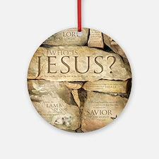 Names of Jesus Christ Round Ornament