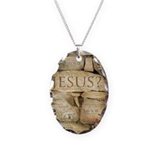 Names of Jesus Christ Necklace Oval Charm