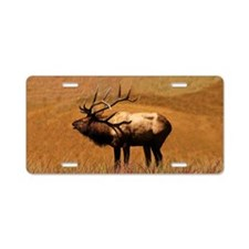 Big Wild Elk Aluminum License Plate