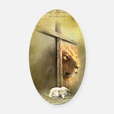Lion of Judah, Lamb of God Oval Car Magnet