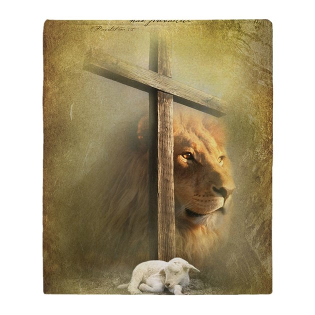 Lion Of Judah Lamb Of God Throw Blanket By Admin Cp111351336