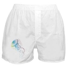 colorful jellyfish silhouette Boxer Shorts