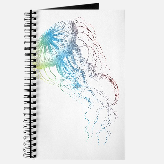 colorful jellyfish silhouette Journal