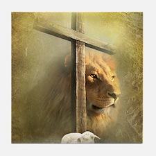 Lion of Judah, Lamb of God Tile Coaster