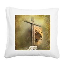 Lion of Judah, Lamb of God Square Canvas Pillow