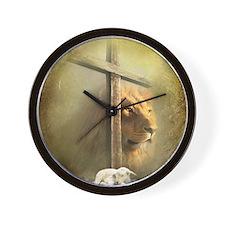 Lion of Judah, Lamb of God Wall Clock