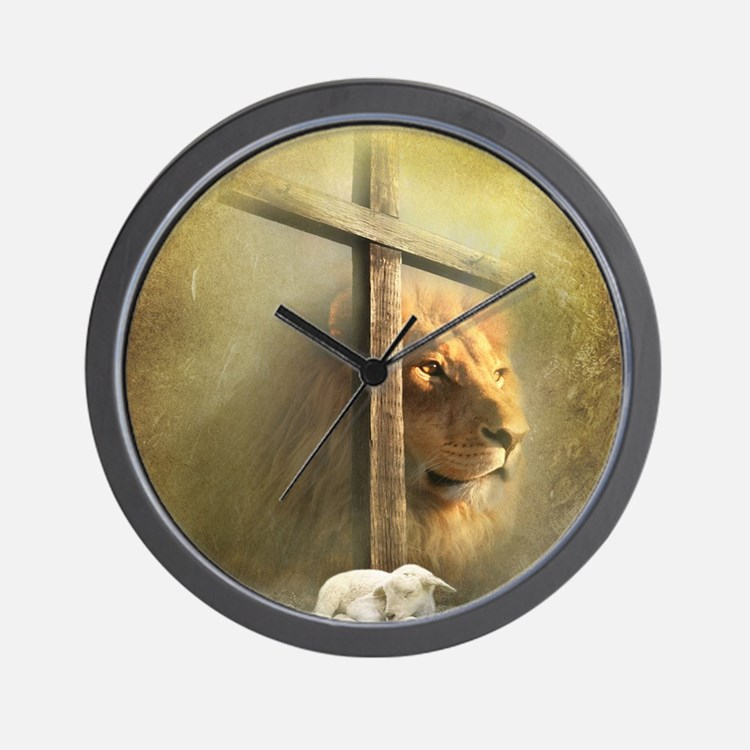 lion of judah lamb of god wall clock. beautiful ideas. Home Design Ideas