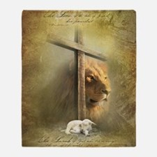 Lion of Judah, Lamb of God Throw Blanket
