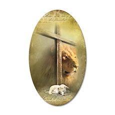 Lion of Judah, Lamb of God 35x21 Oval Wall Decal