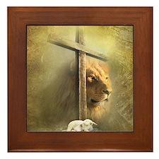 Lion of Judah, Lamb of God Framed Tile