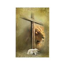 Lion of Judah, Lamb of God Rectangle Magnet