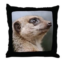 Meerkat Panel Print Throw Pillow