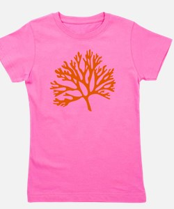 red sea fan coral drawing Girl's Tee