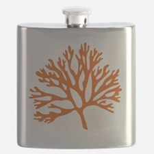red sea fan coral drawing Flask