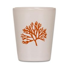 red sea fan coral drawing Shot Glass