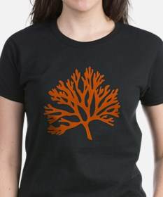 red sea fan coral drawing Tee