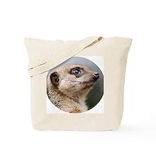Meerkat Round Cocktail Plate Tote Bag