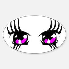 Pink Anime eyes Decal