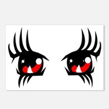 Red anime eyes Postcards (Package of 8)