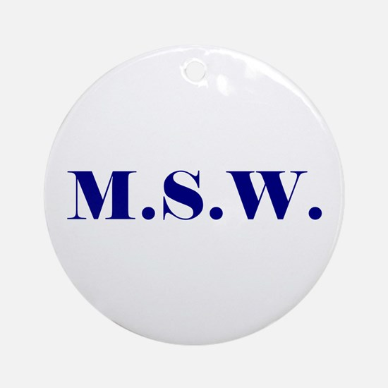 MSW Ornament (Round)