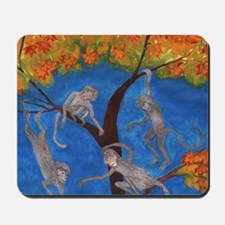 Monkeys hanging around Mousepad
