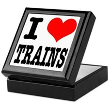 I Heart (Love) Trains Keepsake Box