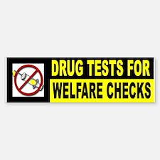 WELFARE DRUG ADDICTS Bumper Bumper Bumper Sticker