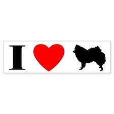 I Love American Eskimos Bumper Bumper Sticker