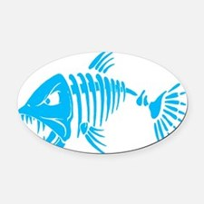 Pirate fish Oval Car Magnet