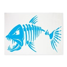 Pirate fish 5'x7'Area Rug