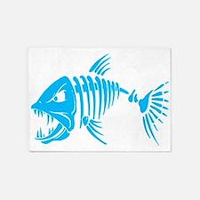 Pirate fish 5'x7'Area Rug