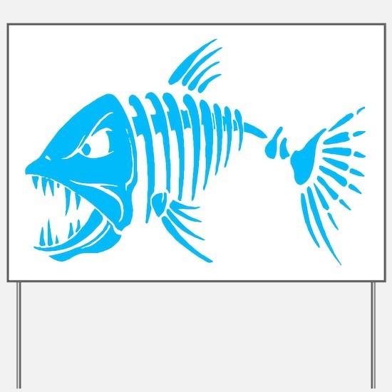 Pirate fish Yard Sign