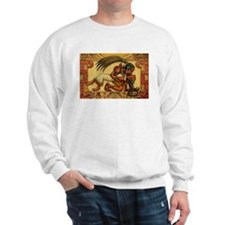 Mayan Embrace sweatshirt (ash grey)