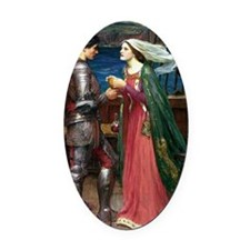 Tristan and Isolde The Potion Oval Car Magnet