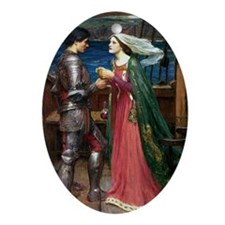 Tristan and Isolde The Potion Oval Ornament