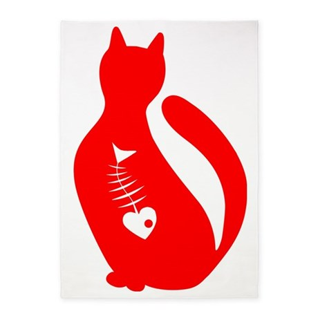 Cute cat 5'x7'Area Rug