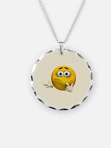 Confused Emoticon Necklace