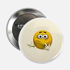 """Confused Emoticon 2.25"""" Button"""