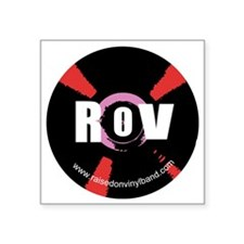 """Raised on Vinyl Round desig Square Sticker 3"""" x 3"""""""
