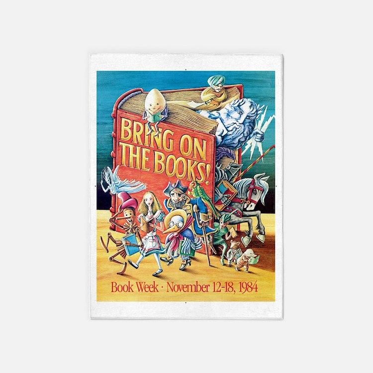 1984 Childrens Book Week 5'x7'Area Rug