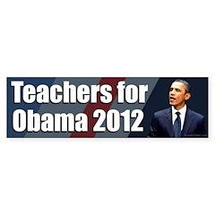 Teachers for Barack Obama Bumpersticker