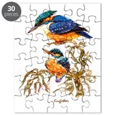 """Birds and Young """"Kingfishers"""" Peter Bere De Puzzle"""