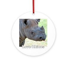 Black Rhino Love Rhinos T-Shirt Round Ornament