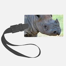 Black Rhino Panel Print Luggage Tag