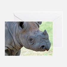 Black Rhino Panel Print Greeting Card